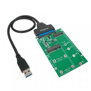 Simplecom SA221 USB 3.0 to mSATA + M.2 (NGFF) SSD 2 in 1 Combo Adapter With USB 3.0 to SATA Data