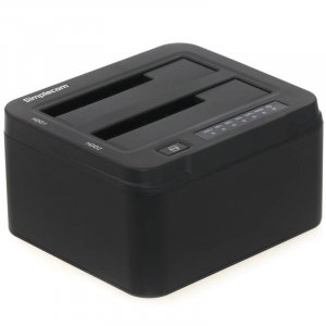 "Simplecom SD322-BK Aluminium Dual Bay USB3.0 Docking Station 2.5"" 3.5"" SATA HDD"