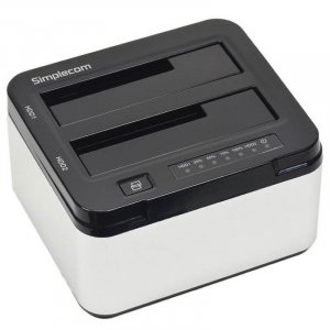 "Simplecom SD322 Dual Bay USB 3.0 Aluminium Docking Station for 2.5"""" and 3.5"""" SATA HDD Silver"