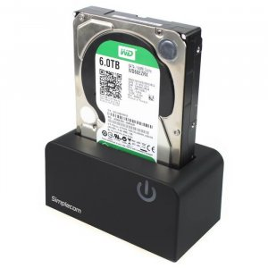 "Simplecom SD326 USB 3.0 to SATA Hard Drive Docking Station for 3.5"""" and 2.5"""" HDD SSD"