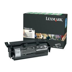 Lexmark T654X11P Black Laser Toner Cartridge Extra High Yield 36K