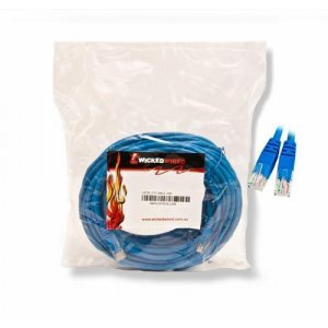 WW 20m Blue CAT5E UTP RJ45 To RJ45 Network Cable