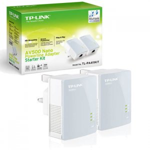 TP-LINK TL-PA411KIT AV500 500Mbps Nano Powerline Adapter Kit (1 Pair)