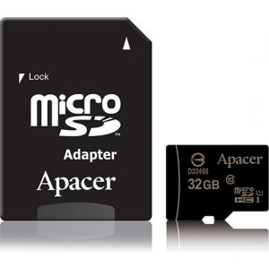 Apacer Ap32gmcsh10u1-r Micro Sdxc Uhs-i 32gb Class 10 - With Sd Card Adaptor