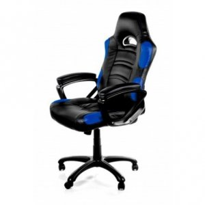 Arozzi Enzo Black & Blue Adjustable Ergonomic Motorsports Inspired Desk Chair