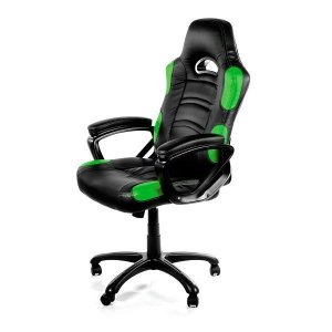 Arozzi Aro-enzo-gn Black & Green Enzo Adjustable Ergonomic Motorsports Inspired Desk Chair