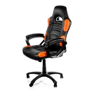 Arozzi Aro-enzo-or Black & Orange Enzo Adjustable Ergonomic Motorsports Inspired Desk Chair