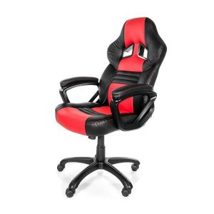 Arozzi Aro-monza-rd Black & Red Monza Adjustable Ergonomic Motorsports Inspired Desk Chair
