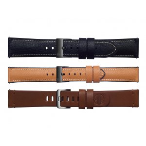 Samsung Galaxy Watch 46mm -3 Pack Straps (22mm Band) - Black, Tan, Brown (Genuine)