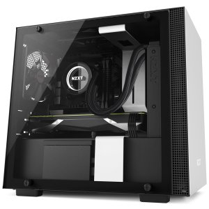 NZXT Matte White H200 Mini Tower Computer PC Case