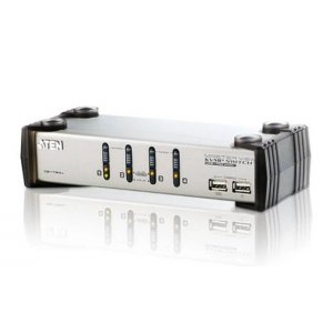 Aten CS1734AC-AT 4 Port Usb Vga Kvmp Switch With Audio And Usb 1.1 Hub - Cables Included