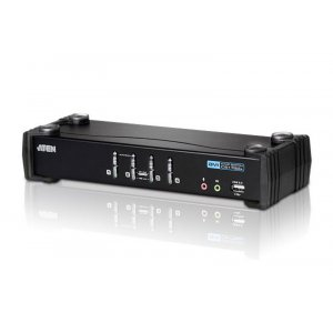 ATEN CS1764A-AT-U 4 Port Usb 2.0 Dvi Kvmp Switch. Support Hdcp