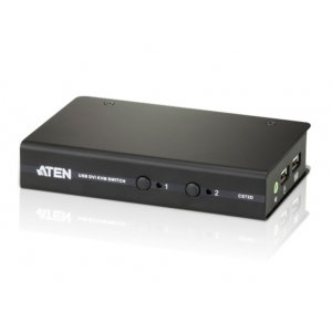 Aten CS72D-AT 2-port Usb Dvi Kvm Switch - Cables Included