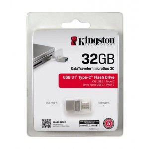 KINGSTON 32gb Dt Microduo 3c, Usb 3.0/3.1 + Type-c Flash Drive