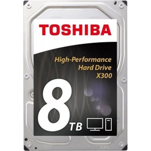 "Toshiba HDWF180UZSVA X300 Performance 3.5"" 8TB 7200RPM HDD 128MB"