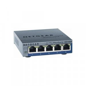 Netgear (GS105E) GS105E ProSafe Plus 5-port Gigabit Ethernet Switch