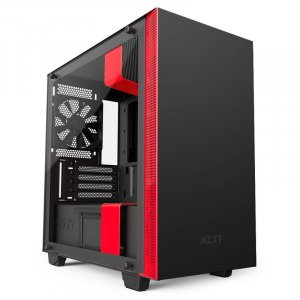Nzxt Nzt-ca-h400w-br Black & Red H400i Mini Tower Chassis
