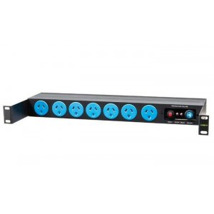 Powershield 11 Way Horizontal Pdu With 7 X Australian Sockets And 4 X Iec Sockets With Surge Protection