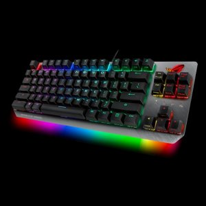 Asus X802 ROG STRIX SCOPE TKL/BL Wired Mechanical Rgb Gaming Keyboard For Fps Games, Cherry Mx Switches