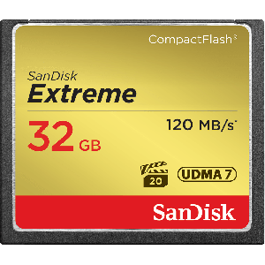 Sandisk 32gb Extreme Compactflash Memory Card SDCFXS-032G-XQ46
