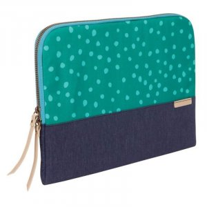 "Stm Stm-114-106m-47 Grace Sleeve Fits Up To 13.3"" Notebook, Teal Dot/night Sky"