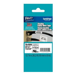 Brother TZeFX241 Flexible Tape 8 metres Labelling Tape